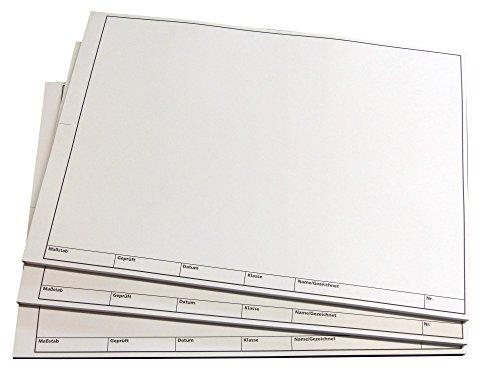 1x TZ-Arbeitsblätter technisches Zeichenpapier - je Block 50 Blatt, DIN A3, Qualitäts-Offset-Papier 150g/m² (22673)