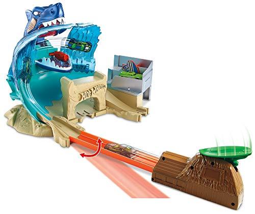 Hot Wheels Mega Playset Sfida Lo Squalo per Macchinine con Un Lanciatore, Gioco per Bambini di 4 + Anni, FNB21, Imballaggio Standard