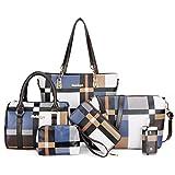 エレガントな女性のハンドバッグ、トートバッグの組み合わせ、女性のショルダーバッグの斜め掛けバッグ (ネイビーブルー)