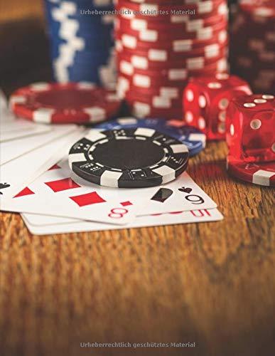 Notizbuch: zum Pokern ♦ über 100 Seiten Dot Grid Punkteraster für Strategien, Planer oder Notizen für alle Pokerspieler ♦ Jounal A4+ Format ♦ Motiv: Pokertisch 4