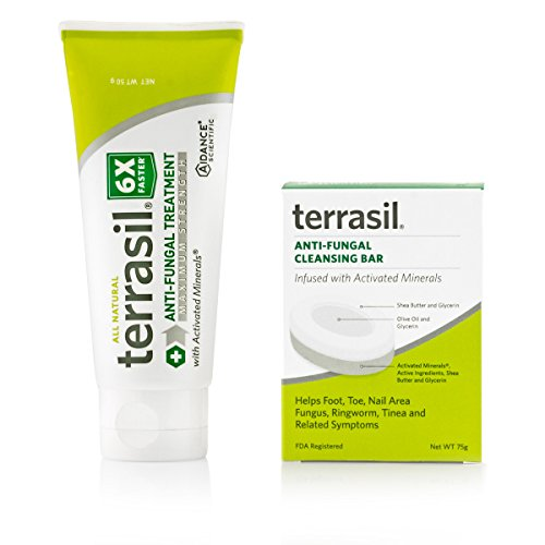 terrasil Anti-fungal Treatment MAX + Anti-fungal Cleansing Soap - 6X Faster Doctor Recommended 100% Guaranteed...