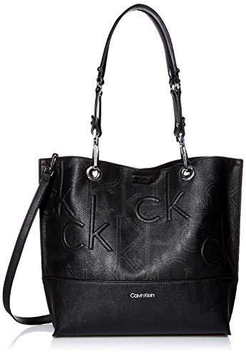 Calvin Klein Sonoma Signature North/South Tote, Black Perforated