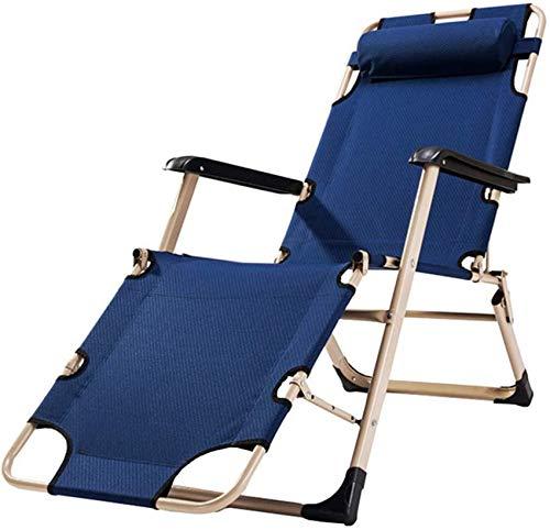 MFLASMF Prodotti per la casa Lettino Prendisole Pieghevole Regolabile Sedie reclinabili Salotto da Esterno Sedia a gravità Sedia da Campeggio reclinabile con poggiatesta per Spiaggia a BOR