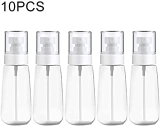 JINTONGJU 10 PCS Portable Refillable Plastic Fine Mist Perfume Spray Bottle Transparent Empty Spray Sprayer Bottle, 100ml(Pink) Cosmetics (Color : Transparent)