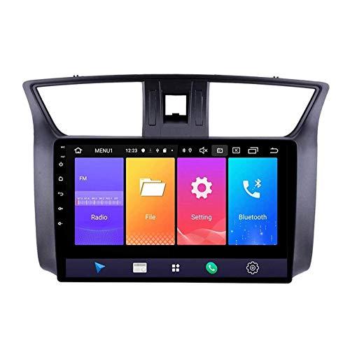 ZHANGYY Reproductor Multimedia táctil Sn de 10.1 Pulgadas, estéreo para automóvil Compatible con Nissan Sylphy B17 Sentra 2012-2018, Bluetooth/GPS/FM/USB/SWC/Mirror Link/Cámara de visión
