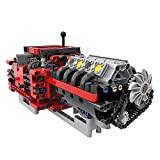 LAKA Technic V8 Motor 685Pcs MOC-79482 GTE Manual Automático 8 Marchas Bricks Modelo Compatible con Lego Technic