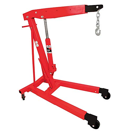 AFF Heavy Duty Hydraulic Engine Hoist Cherry Picker Crane, 3 Ton (6,000 lbs) Capacity, 3584