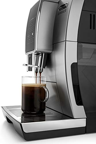 De'Longhi Dinamica ECAM35025SB TrueBrew Over Ice™ Fully Automatic Coffee and Espresso Machine, with Premium Adjustable… 4 The first and only fully automatic coffee machine with De'Longhi TrueBrew Over Ice Coffee technology. The True Brew Process Delivers Smooth, Full-Bodied Iced Coffee: Dinamica with De'Longhi TrueBrew Over Ice feature is the first and only Fully Automatic Coffee and Espresso Machine with iced coffee recipe. By brewing at a lower temperature, pre-infusing & infusing the coffee and offering the ability to customize to extra strong, De'Longhi TrueBrew Over Ice brews smooth, full-bodied coffee over ice that is never watered down. Heat-up time in less than 40 seconds: With Italian 15 bar high performance pump and a brew unit that takes only 40 seconds to heat up, you can have coffee shop quality coffee beverages with the push of a button.