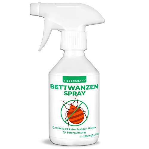Silberkraft Bettwanzenspray, zuverlässiger Bettwanzenschutz für Matratzen und Betten, hilfreiches Anti-Bettwanzen-Mittel, gegen Wanzen und Ungeziefer (250 ml)