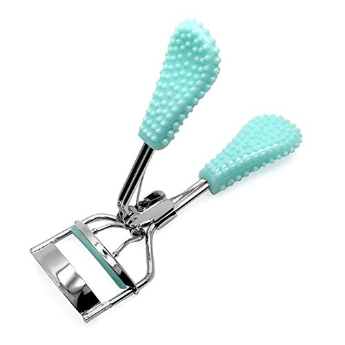 Clip large cil curleur maquillage outil en plastique unique Eye Shape pour les femmes Lady Magnifique poignée Pro Bleu