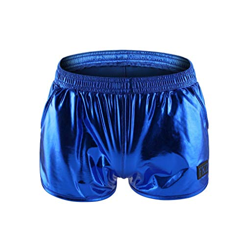 FRAUIT Herren Badehose Lackleder Schillernde Shorts Mode Shorts Slim Fit Badeshort   Männer Badehose   Badeshorts Jungen   Badehosen