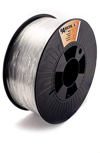 Basicfil PET 1.75mm, 1 kg filamento per stampante 3D, Trasparente