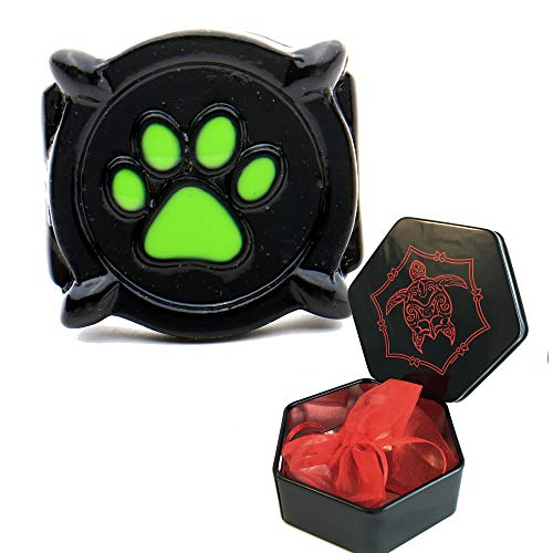 Cat Noir ring costume.size 5,6,7,8.Glow in the dark. Inspired by Miraculous Lady Bug (47 (15.0))