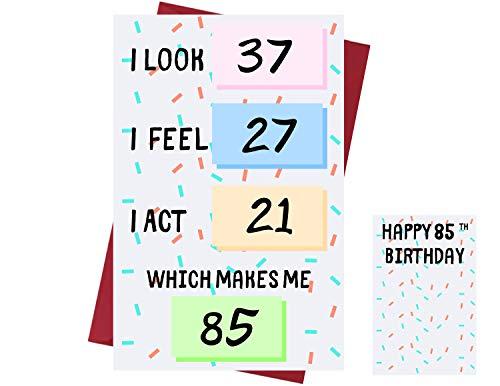 Funny 85th Birthday Card