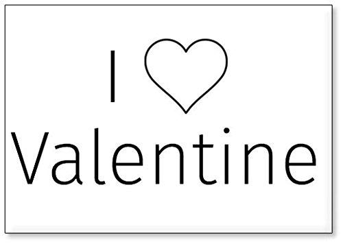 I Love Valentine, fridge magnet (design 2)
