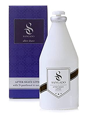 SANGADO Invincible Aftershave Lotion for Men, Moisturizing, Refreshing, Luxury Smelling, Woody Aquatic Scent, Fine French Essences, Long-Lasting, Modern, Energized, Refined, Ideal Gift for Men, 100 ml by SANGADO Fragrances