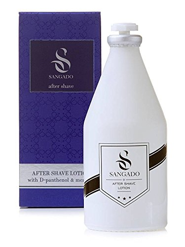 SANGADO Fragrances Sangado aftershave-lotion für männer 100ml feuchtigkeitsspendend erfrischend luxuriös waldiger aquatischer duft feine französische essenzen langanhaltend modern energetisch ideales geschenk