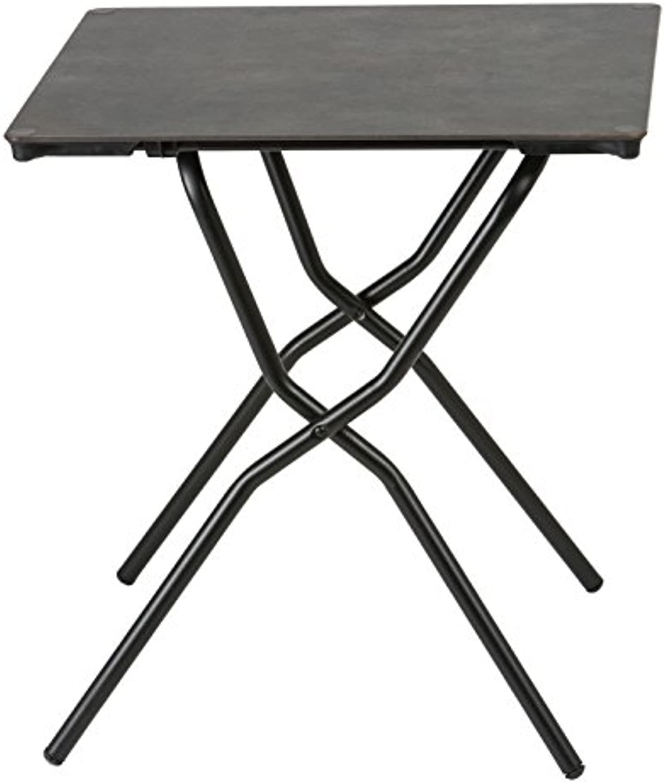 Lafuma Quadratischer Gartentisch, für 2 Personen, Klappbar, Wetterfest, vulkan (meliert), 68 x 64 cm