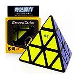 CuberSpeed Qiyi Pyraminx Black Speed Cube MoFangGe Qiming Pyramid Black Speed Cube