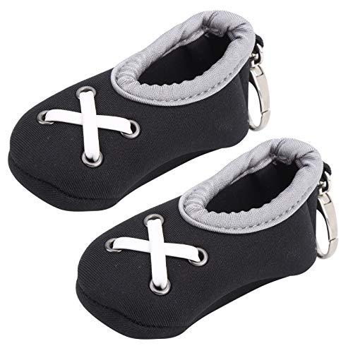 zhoul 2 uds 2 Soportes para Pelotas de Golf portátiles Zapatos Modelo Funda Protectora Material de Buceo Accesorios de Cubierta, Ligero y Duradero
