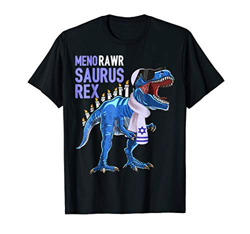 Menorawrsaurus Rex Dinosaur Hanukkah Shirt Gift for Boys