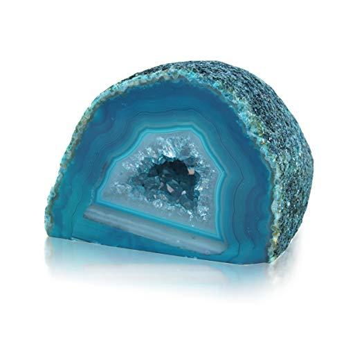 Geoda de ágata brasileña, Color Azul y Verde - AMULETO