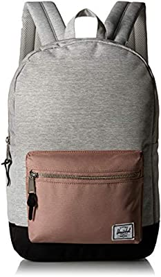 Herschel Settlement Backpack, Light Grey Crosshatch/Ash Rose/Black, Mid-Volume 17.0L