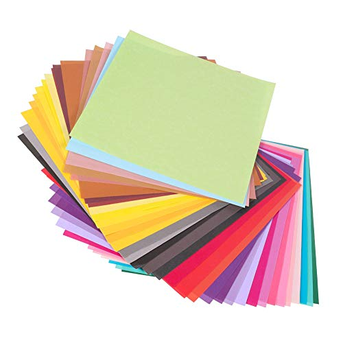 miuse Origami-Papier Faltpapier, 200 Blatt 15 x 15 cm, 12 Farben - Bunte hochwertige Faltblätter für Origami und Bastelprojekte