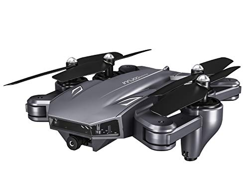 InnJoo Dron Blackeye 4K, Plegable, Cámara Integrada, 20 mínutos de Vuelo, Control Desde App