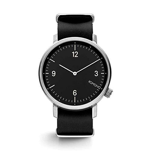 Komono - Reloj de Pulsera analógico para Hombre (Cuarzo, Talla única), Color Negro