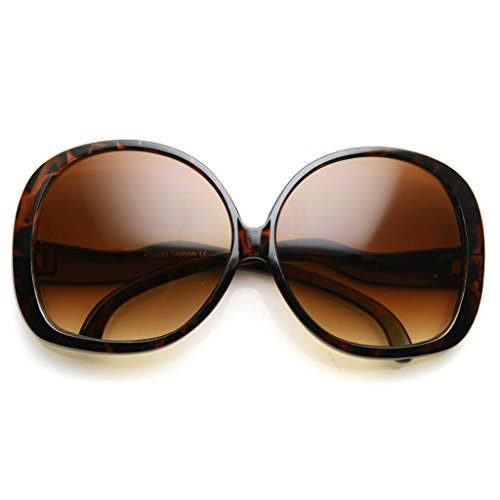 Price comparison product image AStyles - Big Huge Oversized Vintage Style Sunglasses Retro Women Celebrity Fashion (Brown)