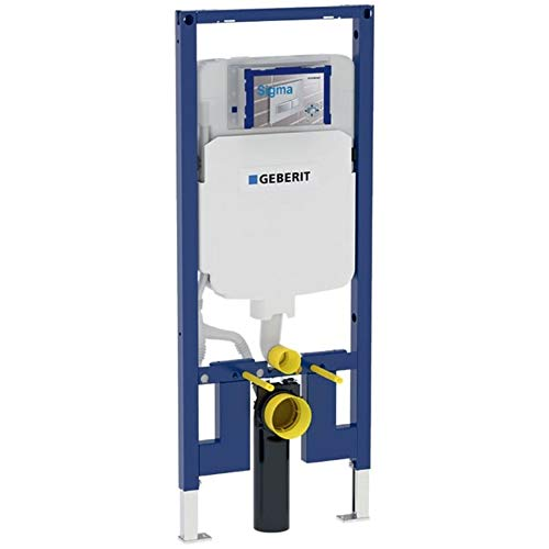 "Geberit 111.798.00.1 Concealed Toilet Carrier Frame with Dual-Flush Tank for 2 x 4"" Walls"