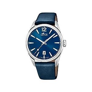 Reloj Lotus Chrono 18693/1 para Hombre, Color Azul y Correa de Piel, Esfera