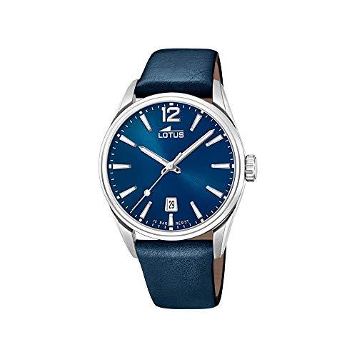 Reloj Lotus Chrono 18693/1 para Hombre, Color Azul y Correa de Piel, Esfera de 42mm