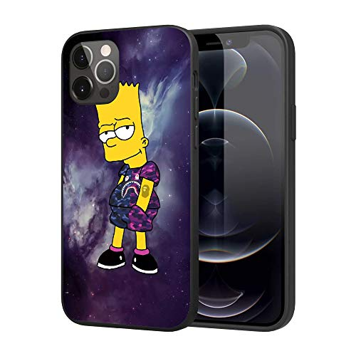 iPhone 12 Pro Max Case,Slim Fashion Custom Cases Cover Case (bart-Simpson)