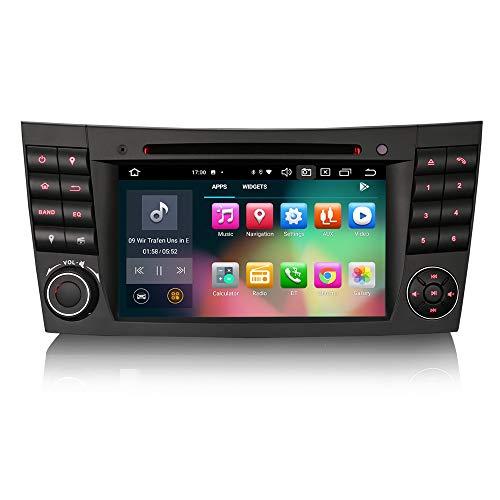 ERISIN 7 Zoll Android 10.0 Autoradio für Mercedes Benz E/CLS/G Klasse W211 W219 Unterstützt GPS-Navi Carplay Android Auto DSP DVD Bluetooth A2DP DVB-T/T2 WiFi 4G DAB+ 8-Kern 4GB RAM+64GB ROM