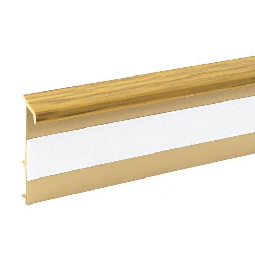 2,5m TEPPICHLEISTEN 50mm EICHE Kettelleisten aus Kunststoff Fussbodenleiste Laminat Dekore Parkett Scheuerleiste