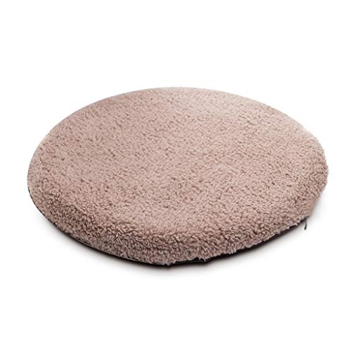 KEKOR Chair Cushion Round Plush Chair Cushion, Winter Memory Cotton Round Stool Cushion Cushion, Non-slip Bottom To Keep Warm, Many Colors To Choose From (Color : A)