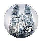 Weekino Souvenir St. Gatien Tours de la Iglesia Francia Imán de Nevera Cristal 3D Cristal Recorrido de Recuerdos de la Ciudad de Turismo Regalo Fuerte Etiqueta Engomada del refrigerador