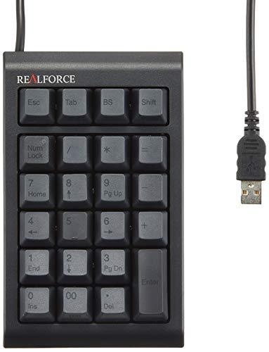 東プレ テンキー  REALFORCE23UB USB 有線接続 静電容量無接点方式 ケーブル長/80cm カスタマイズ機能付(DIPスイッチ) 昇華印刷墨モデル ALL45g荷重 ブラック WC01B0