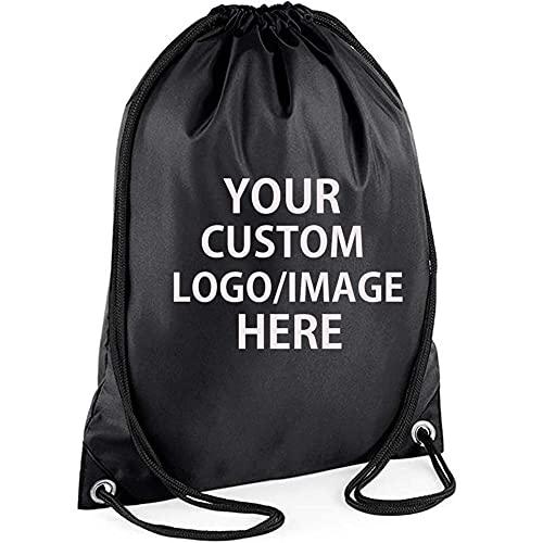 10 PCS Personalized Drawstring Backpack ,Custom Logo Gym Bag Drawstring School PE Kit Sack Sports