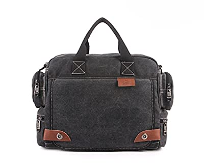 iMaySon Men's Canvas Laptop Shoulder Messenger Bag