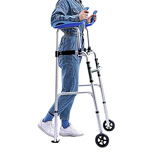 PTY Andador para Ancianos Rollator Walker con antebrazo Soporte de Servicio Pesado, para Adultos/de 6 pies de Altura/Personas Mayores, mediodía Portátil Plegable Vertical Caminante