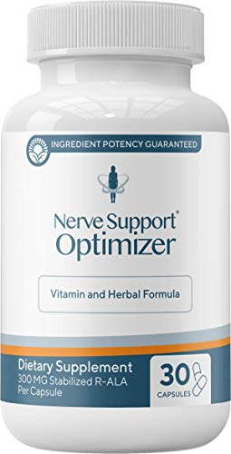 Fibrolief: Nerve Support Optimizer - Stabilized R-ALA Supplement for Muscle, Joint and Nerve Pain Relief - 1-Month Supply (30 Capsules) - Absorbs Fast - 300 mg R-Alpha Lipoic Acid per Serving