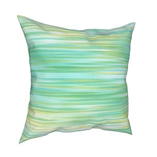 Funda de cojín abstracta de color amarillo turquesa para decoración diaria con cremallera, funda de almohada lumbar para regalo de casa, sofá, cama, coche, 45,72 x 45,72 cm