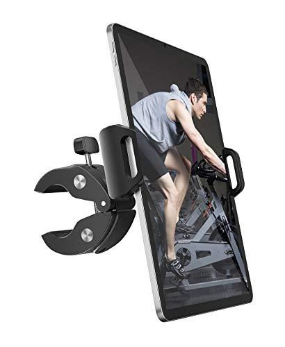 Tryone Soporte Tablet para Cinta de Correr Bicicleta - Soporte Tablet Bicicleta Spinning, Soporte Tablet Bicicleta Estatica, Compatible con iPad, iPhone, Galaxy Tabs, Tablets y Móviles de 4.7-12.9 '