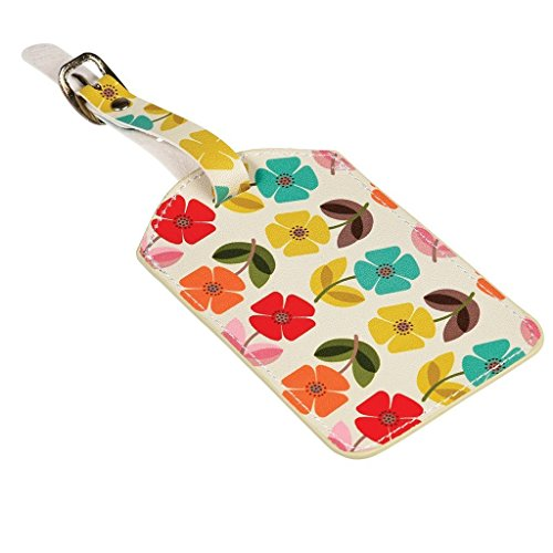 dotcomgiftshop Luggage Tags - Choice Of Design (Mid Century Poppy)