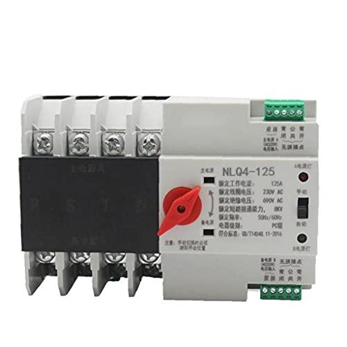 Interruptor automático de transferencia Sistema de Control Eléctrico Seguridad alimentación para carril DIN 4P Dual Power AC 380V 80A del interruptor eléctrico