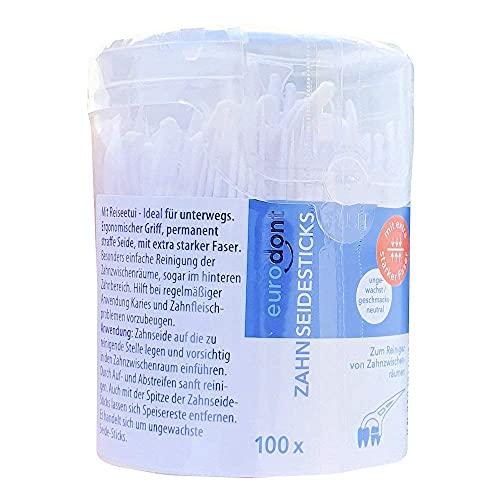 100 x Zahnseide Sticks zum Reinigen von Zahn-Zwischenräumen