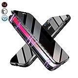 Coque Magnétique Anti espion Compatible avec IPhone 7 plus/8 plus, Coque 2faces en Verre Trempé...